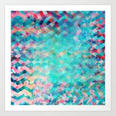 Chevron Remix Art Print