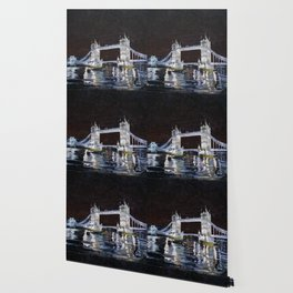Tower Bridge. 2006. Canvas on cardboard, oil. 35 x 40 cm. Wallpaper