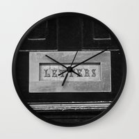 letters Wall Clocks featuring Letters by Shy Photog
