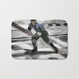 Let's Go! - Ice Hockey Player Bath Mat