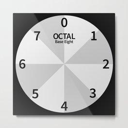 Octal Clock Base Eight Metal Print