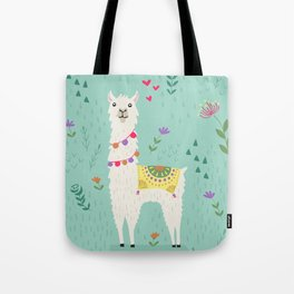 Festive Llama Tote Bag