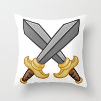 fight Throw Pillows featuring FIGHT by Countmoopula