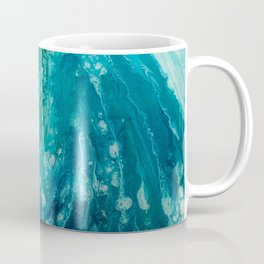 Crashing Waves Resin Painting Coffee Mug