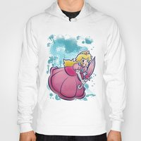 princess peach Hoodies featuring Princess Peach by SaladTurtles
