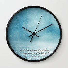 Cleanse me Psalm 139 Wall Clock