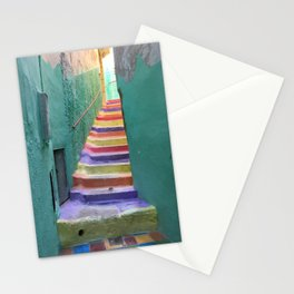 Colorful steps in Moulay Idriss, Morocco Stationery Cards