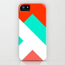 Living Coral - Minimal Geometric Pattern 1 iPhone Case