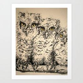 Owls 2.5 Art Print