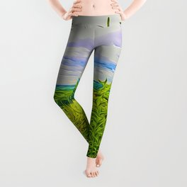 Parbold Hill (Digital Art) Leggings