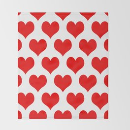 Holidaze Love Hearts Red Throw Blanket