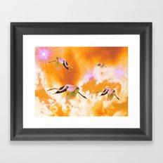 Dance of the Heron and Nebulae. Framed Art Print