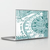 amy sia Laptop & iPad Skins featuring Sia Bella Come Te by Jen Fleming
