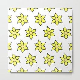 Yellow Fluro Flowers Metal Print