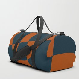 Blue and Rust Abstract I Duffle Bag