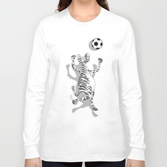Zebra Football Long Sleeve T-shirt