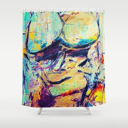 The Bath Of Fat Woman Shower Curtain