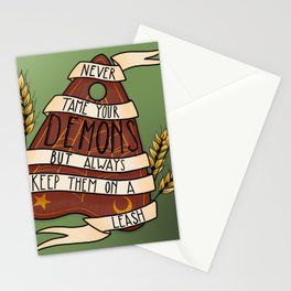 never tame your demons Stationery Cards