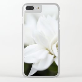 Snow White Flowers on a Dark Background #decor #society6 #buyart Clear iPhone Case