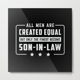 Proud Best Son In Law Son Awesome Gift Idea Metal Print