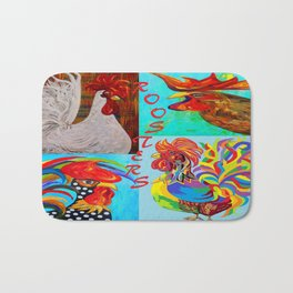 Rooster Menagerie Bath Mat