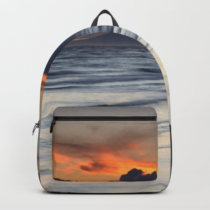 Magic days... Sunset at the beach Backpack