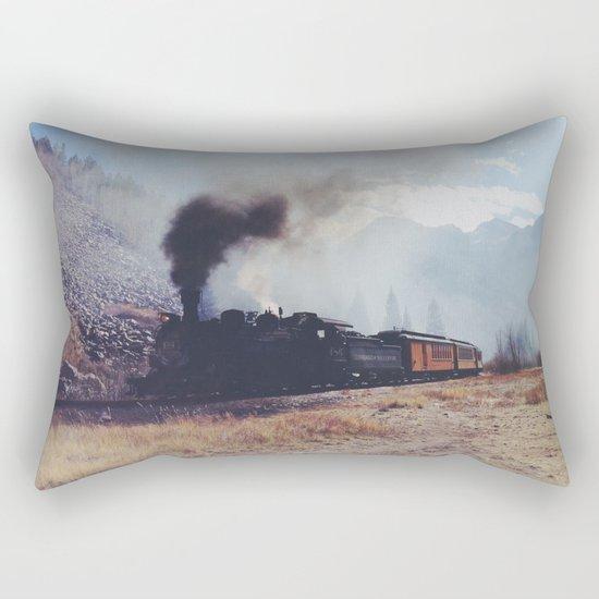 Mountain Train Rectangular Pillow