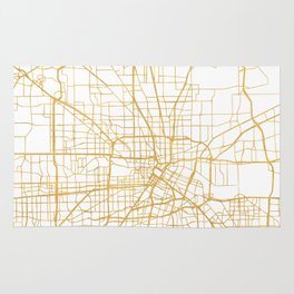 HOUSTON TEXAS CITY STREET MAP ART Rug