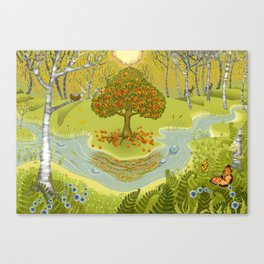 Magic Green Forest Canvas Print