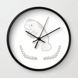 Ocean Friend - Manatee Wall Clock