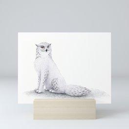 Snowy Fowl II Mini Art Print