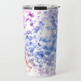 Colorful Watercolor Spots Travel Mug