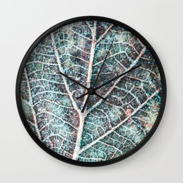 texture of a leaf Wall Clock