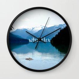Whistler lakes Wall Clock