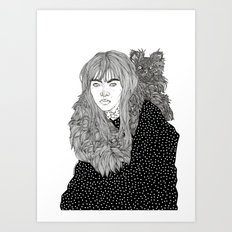 I Am Not A Cat Person Art Print