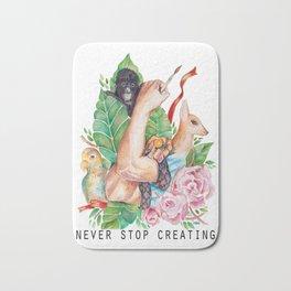 Never Stop Creating Bath Mat