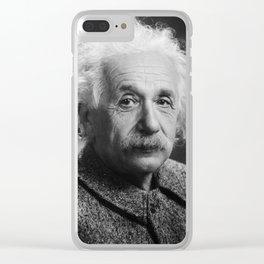 Albert Einstein Clear iPhone Case