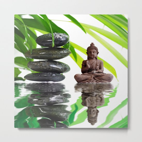 Buddha Relaxing  Metal Print