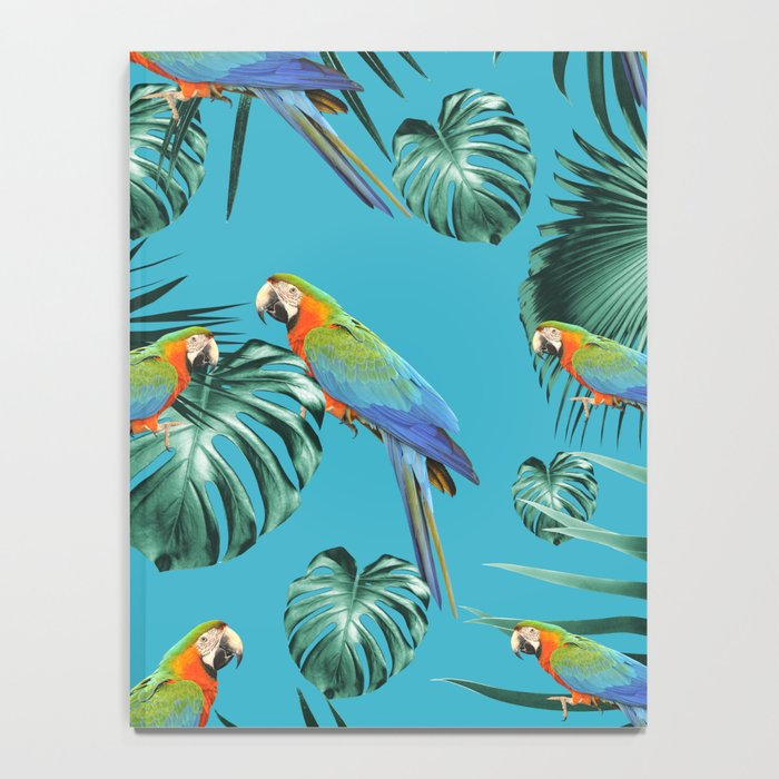 Parrots in the Tropical Jungle #2 #tropical #decor #art #society6 Notebook