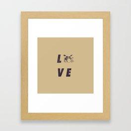 Love Drummer Framed Art Print