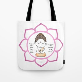 Cute little Buddha in a lotus flower Tote Bag