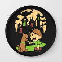 hobbes Wall Clocks featuring Shaggy n Scoob by Moysche Designs