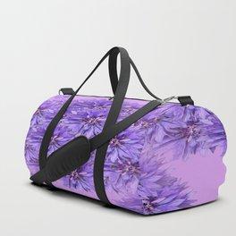 Purple Flower Ball Illustration - Lilac Background #decor #society6 #buyart Duffle Bag