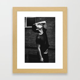 Beautiful trapped in a black and white soul Framed Art Print