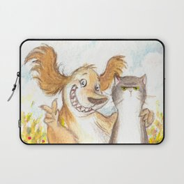 Cat and Dog Laptop Sleeve