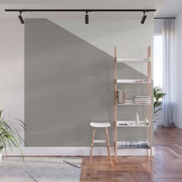 Split Diagonally Grey Geometry Wall Mural