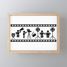 Making of a movie illustration Framed Mini Art Print
