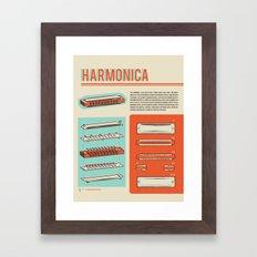 Harmonica Framed Art Print