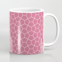 Geometric smoked-pink all-over pattern Coffee Mug