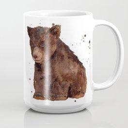 Cute Baby Bear, teddy bear, teddy, bear cub, brown bear, nursery art, woodland, bear painting Coffee Mug